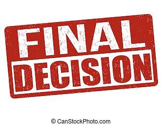 décision, timbre, ou, final, signe
