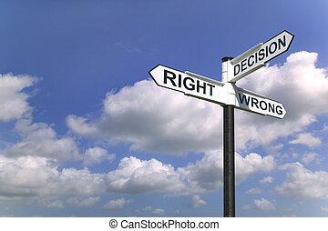 décisions, ciel, signe