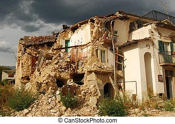 décombres, séisme, abruzzo