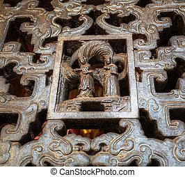 décor, temple, chinois