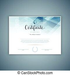 décoratif, 2809, conception, certificat