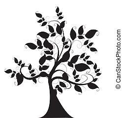 décoratif, arbre