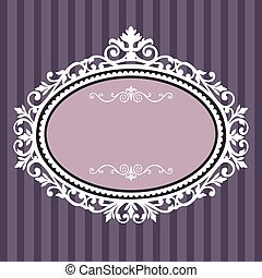 décoratif, armature ovale, vendange