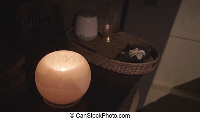 décoratif, bougies, cire