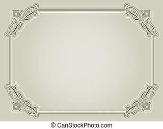 décoratif, certificat, fond