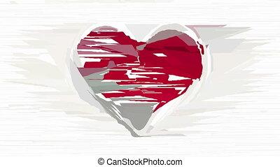 décoratif, coeur, résumé, animation