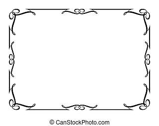 décoratif, décoratif, cadre, calligraphie
