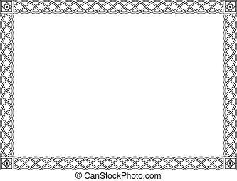 décoratif, décoratif, simple, cadre, noir, gothique