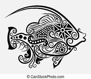 décoratif, fish, 2
