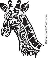 décoratif, girafe