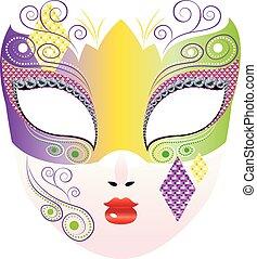 décoratif, masque carnaval