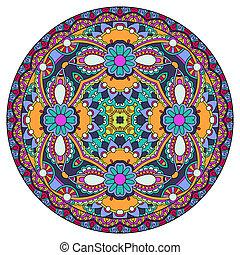 décoratif, patte, rond, conception, plat, géométrique, cercle, gabarit
