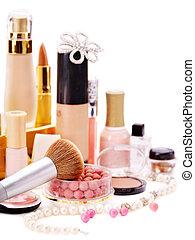 décoratif, produits de beauté, makeup.