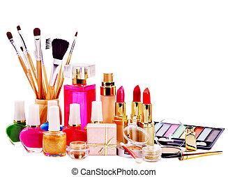 décoratif, produits de beauté, perfume.