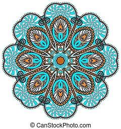 décoratif, spirituel, lotus, symbole, couler, mandala, indien, cercle