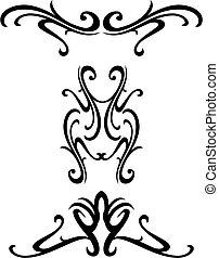 décoratif, tribal, conception