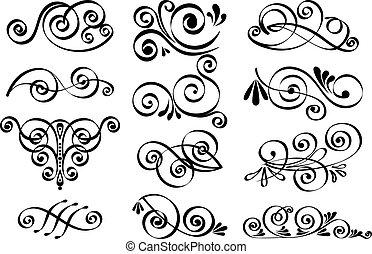 décoratif, vecteur, éléments conception