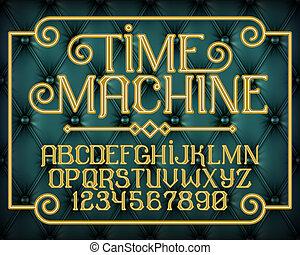 décoratif, vendange, machine, police, temps