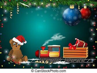 décoration, année, nouveau, cartes, conception, produits, dons, jour férié christmas, fond, 1