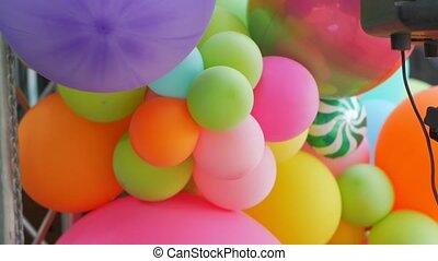décoration, couleur, ballons