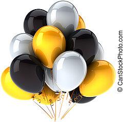 décoration, fête, anniversaire, ballons