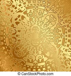 décoration, oriental, fond