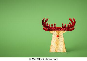 décoration, renne, noël