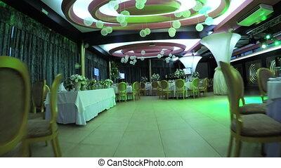 décoration, salle, mariage