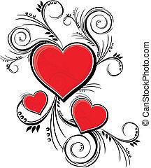 décoration, valentines