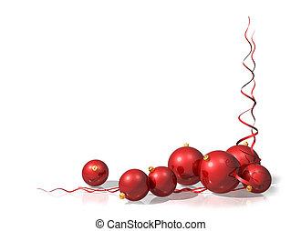 décorations noël, rouges
