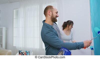 décorer, appartement, danse