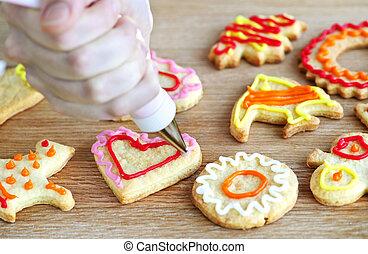 décorer, biscuits