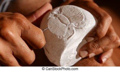découpage, pierre, albâtre