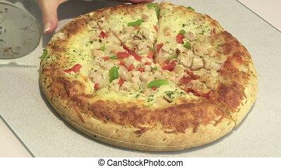 découpage, pizza