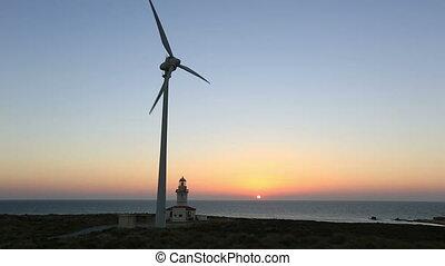 défaillance, 5, turbine, vent, temps