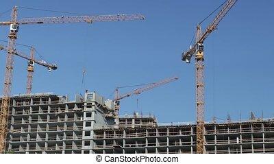 défaillance, site construction, temps