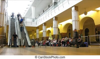 défaillance, station, escalator, temps