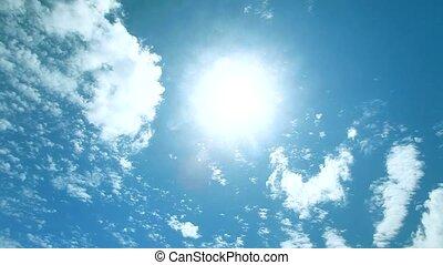 défaillance temps, ensoleillé, ciel, beau