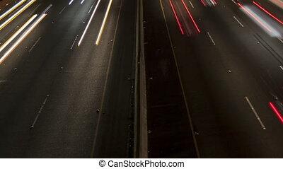 défaillance temps, haut fin, lumière, autoroute