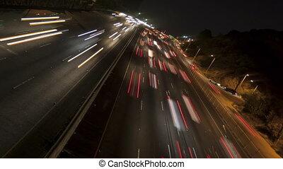 défaillance temps, incliné, lumière, autoroute