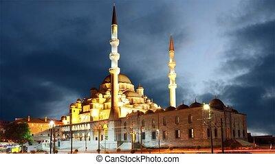 défaillance, temps, -, istanbul, nuit