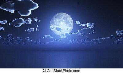 défaillance, temps, lune, nuit