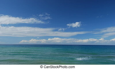 défaillance temps, nuage, agrafe, vagues