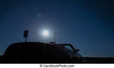 défaillance temps, soleil, cabriolet, levée