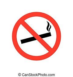 défense de fumer, icône, signe, signe., isolé, interdit