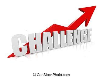 défi, flèche rouge, ascendant