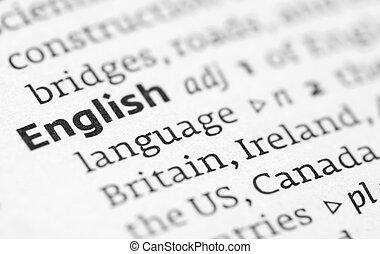 définition, dictionnaire, anglaise