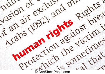 définition, droits homme