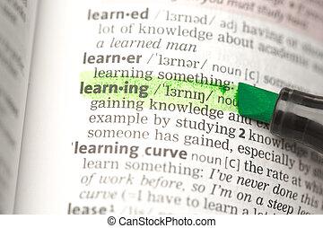 définition, mis valeur, apprentissage