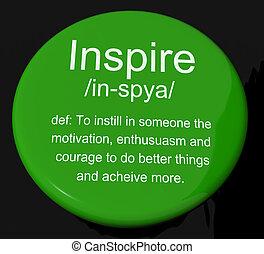 définition, motivation, inspirer, bouton, encouragement, spectacles, inspiration